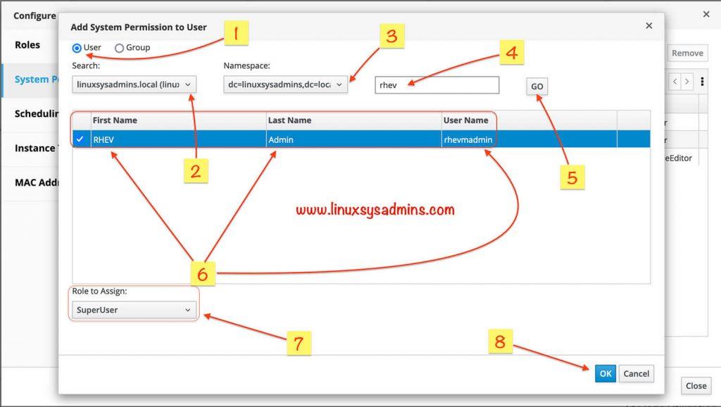 Set role to IDM user